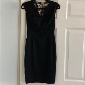 Ted Baker black V-neck pencil dress